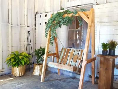 Pinterest wedding photo booth, foliage plant event rentals